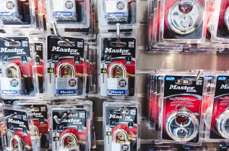 Locks that are available for purchase at UltrStor Burlington to lock up your storage unit.