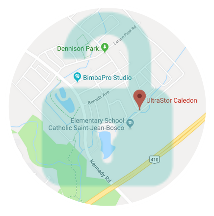 UltraStor Caledon Location Map