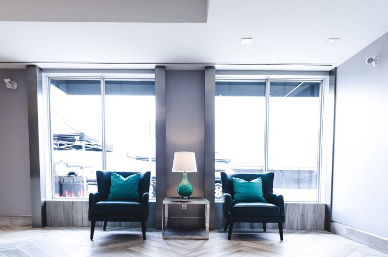 Guest seating for two guests at UltraStor.
